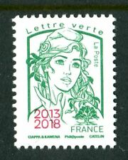TVP vert issu de feuille ciappa surchargée 2013 2018 Paris Philex tir:2500