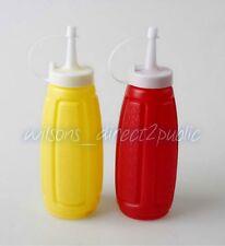 2pc bottiglie di plastica Spremere salsa rosso giallo Ketchup E Senape Dispenser BBQ