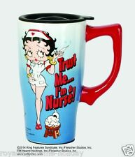 12031 Betty Boop Trust Me I'm a Nurse Ceramic Travel Mug Cup Coffee Tea Doctor