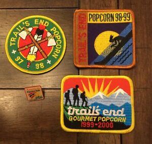 Vintage Lot Trails End Popcorn Patch - Pin BSA Boy Scouts 97-98  98-99  99-2000