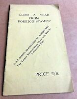 £1000 A Year from Collecting Foreign Stamps Vintage Booklet