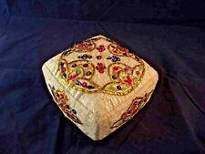 Reich bestickte Braut-Haube (2.), Tracht, Tadschikistan, 2. Hälfte 20. Jh.