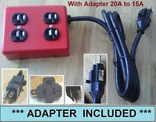 Metal Power strip box heavy duty 12/3 extension cord plug adapter 20amp to 15amp