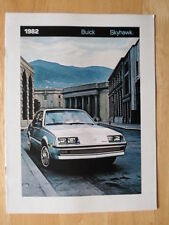 BUICK Skyhawk orig 1982 USA Market sales brochure