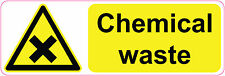 CHEMICAL WASTE health and safety warning office signs stickers 300 x 100 mm