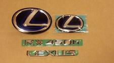 10-12 *NEW*OEM LEXUS RX450H COMPLETE VEHICLE EMBLEM KIT 2010 2011 2012