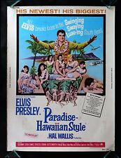 PARADISE HAWAIIAN STYLE * CINEMASTERPIECES ORIGINAL MOVIE POSTER ELVIS PRESLEY