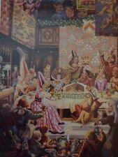 Vintage mounted print CHRISTMAS CUSTOMS Twelfth Night Cake 12 DAYS Xmas 1951