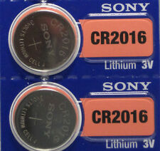 2 Pcs SONY 2016 CR2016 Lithium Coin Battery 3V