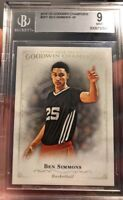 Rare Ben Simmons Rookie Card UD Goodwin Champions BGS 9 Beckett RC SP 2016