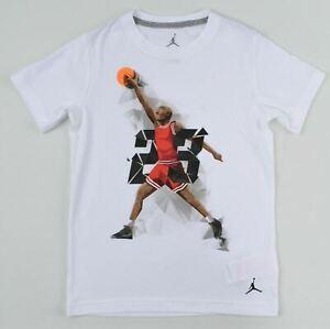 NIKE AIR JORDAN Boys' Jordan Graphic Print T-shirt, White, 10 y /11 y /12 years