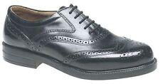 Scimitar 'occum' Mens Leather Wing Cap Oxford Brogues Gents Formal Dress Shoes Black M963a UK 14