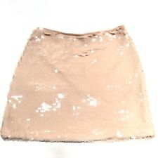 Forever 21 Sequin Skirt Pink Mermaid Womens Size Small Iridescent Rayon Lined