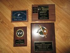 Lot of Four Vintage Sports Trophies Wall Plaques - Estate