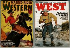 Lot of 2 - MASKED RIDER WESTERN Magazine Jan. 1942 and WEST Nov. 1948 pulp RARE