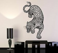 Vinyl Wall Decal Leopard Predator Animal Big Cat Zoo Stickers (1146ig)