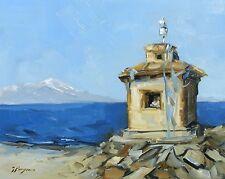 Original Oil painting - landscape art - tibet  - by j payne