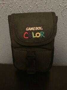 OEM Vintage Nintendo Gameboy Color Carrying Case Travel Bag Pouch Black