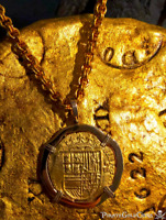 SPAIN 4 ESCUDOS JEWELRY ATOCHA ERA 1556-98 PENDANT PIRATE GOLD COINS