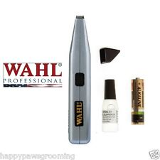 Pet Grooming WAHL Detailing CORDLESS MINI TRIMMER Liner Feet Face Eye Clipper