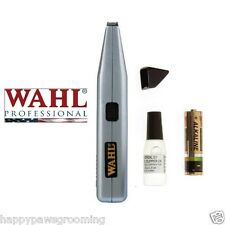 Pet Grooming WAHL CORDLESS MINI TRIMMER Designer/Liner Feet Face Eye Clipper