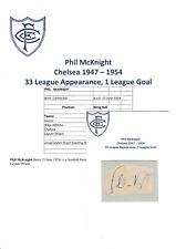 Phil McKnight Chelsea 1947-1954 Originale Firmato a Mano Taglio/Card