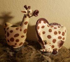 New Blue Sky Ceramic Clayworks Giraffe Sugar Bowl & Creamer
