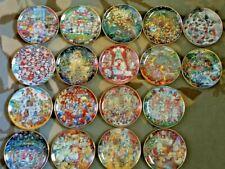 Set Of 18 Franklin Mint Bill Bell Cat Holiday Plates