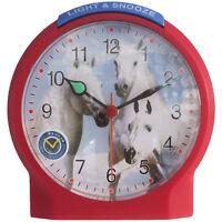 Atlanta 1189/1 Wecker Kinderwecker Pferde rot Pferdewecker für Kinder
