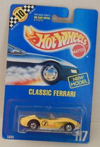 1960 Classic Ferrari 250 Race Car Hot Wheels Blue Card Basic 91-117 Speed Point