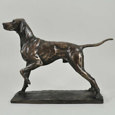 More details for pointer dog cold cast bronze sculpture / figurine by david geenty.