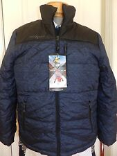 MENS BLUE winter padded COAT JACKET = zeroXposur = SIZE SMALL = new = ss25