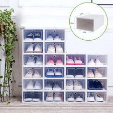 Neues Angebot20X Schuhboxen Transparent Schubladentyp Schuhaufbewahrung Schuhkarton Stapelbar