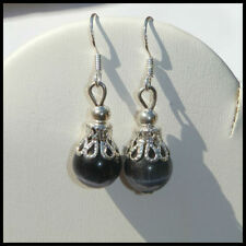 Glass Lab-Created/Cultured Sterling Silver Fashion Earrings