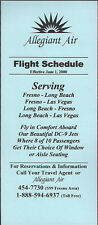 Allegiant Air system timetable 6/1/00 [6061] (buy 4+ save 50%)