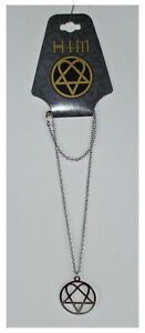 HIM H.I.M. Silver Heartagram Pendant Necklace NEW