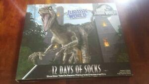 Jurassic World 12 Days Of Socks- Boys Size 10-4