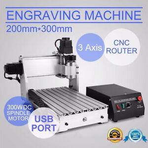 Cnc Router USB Graviermaschine GraviergeräT FräSmaschine  3 AXIS 3020T