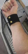 180mm-195mm wrist black suede wristband cuff #142