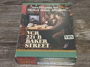 *NEW/SEALED* VCR 221 B BAKER STREET Sherlock Holmes Vintage VHS Board Game 1987