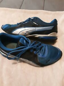PUMA IOCELL LO  Mens Size 12 Black Blue Athletic Training Walking Running Shoes