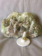 Green Quartz Ring Size 7-1/4 10K Yellow Gold