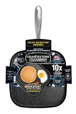 "Granite Stone 10.5"" Non-Stick Triple-Coated Square Griddle Pan – As Seen on TV!"