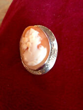Sterling Cameo Pin