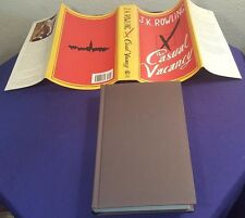 2012 THE CASUAL VACANCY Hardcover Book by J.K. ROWLING