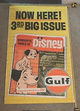 Rare Gulf Oil Company Wonderful World of Disney Advertising Banner Circa 1967