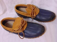 Vintage 70s 80s Ll Bean Women's Maine Hunting Sz 10 Shoes Navy Blue Tan Outdoor