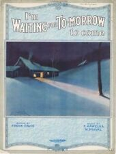 I'm Waiting For Tomorrow To Come, 1920 vintage sheet music
