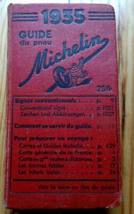 GUIDE ROUGE MICHELIN FRANCE 1935 BEL ETAT