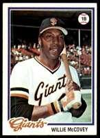1978 Topps (Njs2) Willie McCovey San Francisco Giants #34